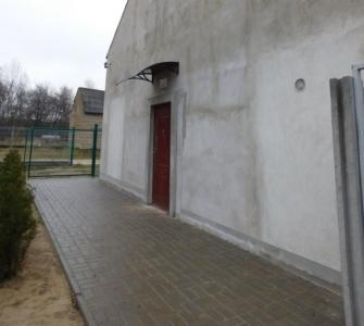 Widok wejścia do budynku